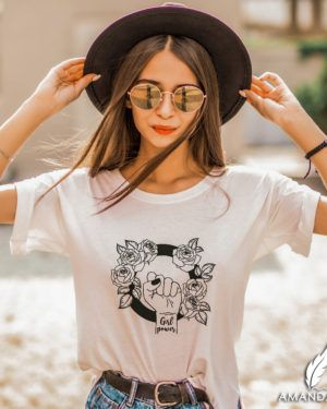 Camiseta: Girl power flower